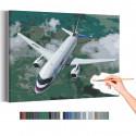 Самолет над лесом / Полет Раскраска картина по номерам на холсте AAAA-RS066