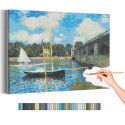 Мост в Аржантее Клод Моне / Известные картины / Импрессионизм Раскраска картина по номерам на холсте AAAA-RS267