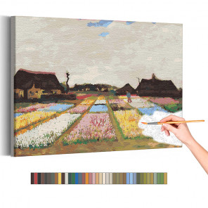 Цветники в Голландии Винсент Ван Гог / Известные картины Раскраска картина по номерам на холсте AAAA-RS270