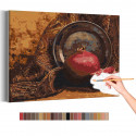 Спелый гранат / Натюрморт Раскраска картина по номерам на холсте AAAA-RS277