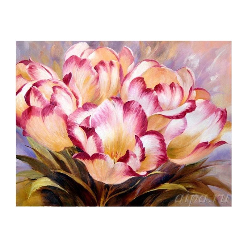 Цветы Раскраска (картина) по номерам на холсте Molly ...