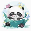 Панда-принцесса Картина по номерам Molly KH1074