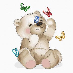 Плюшевый мишка Картина по номерам Molly KH1075