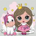 Принцесса с единорожкой Картина по номерам Molly KH1076