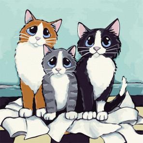 Кошачье трио Картина по номерам Molly KH1083