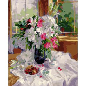 Лилии на террасе (Горячева С.) Картина по номерам Molly KK0705
