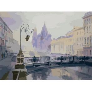 Зимний Петербург ( художник Ольга Литвиненко) Раскраска (картина) по номерам акриловыми красками на холсте