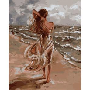 Ветер с моря Картина по номерам Molly KK0713