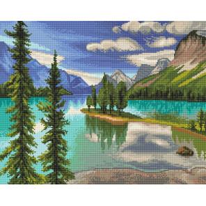 Озеро Малайн Алмазная вышивка мозаика Алмазное хобби AH5451