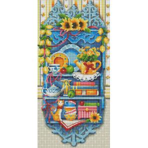 Полочка с лимонами Алмазная вышивка мозаика АЖ-1584