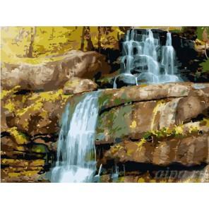 Водопад Раскраска (картина) по номерам на холсте Molly