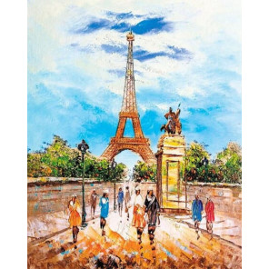 Прогулка по Парижу Алмазная вышивка мозаика LG281