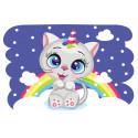 Радужный котенок Раскраска картина по номерам на холсте MC1106