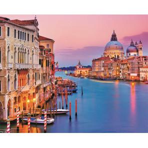 Вид с моста Венеции Раскраска картина по номерам на холсте MG2409