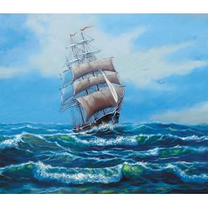Корабль с белыми парусами Раскраска картина по номерам на холсте MG2410