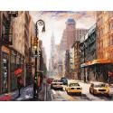 Тихая улица Раскраска картина по номерам на холсте MG2407
