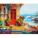 Веранда с видом на море Раскраска картина по номерам на холсте MG1110