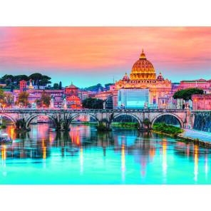 Мост Ангелов Рим Раскраска картина по номерам на холсте ME1127