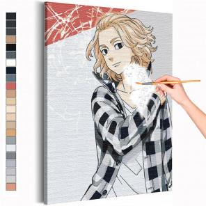Майки / Сано Манджиро Токийские мстители Аниме Раскраска картина по номерам на холсте AAAA-ANI037