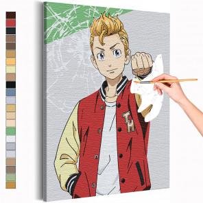 Такемучи / Ханагаки Такемичи Токийские мстители Аниме Раскраска картина по номерам на холсте AAAA-ANI038
