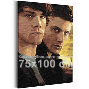 Сверхъестественное 75х100 см Раскраска картина по номерам на холсте AAAA-RS240-75x100