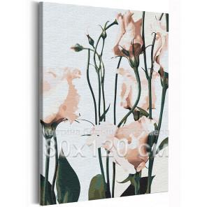 Нежные цветы 80х120 см Раскраска картина по номерам на холсте AAAA-RS346-80x120