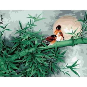 Бамбуковый лес Раскраска по номерам акриловыми красками на холсте Menglei