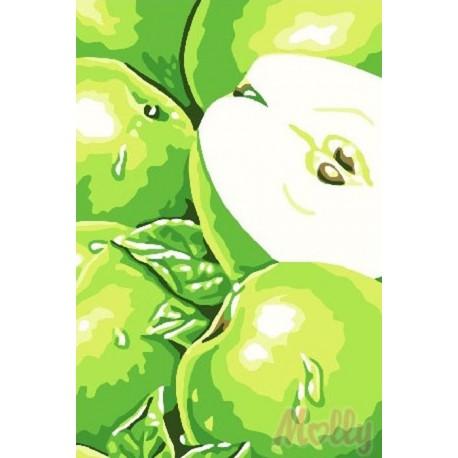 Яблоки Раскраска по номерам на холсте Molly C066 20х30 см ...