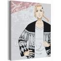 Дракен / Кен Рюгуджи Токийские мстители Аниме 60х80 см Раскраска картина по номерам на холсте AAAA-ANI040-60x80