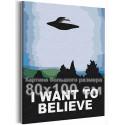 Я хочу верить / Космос 80х100 см Раскраска картина по номерам на холсте AAAA-RS373-80x100