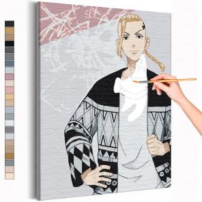 Дракен / Кен Рюгуджи Токийские мстители Аниме Раскраска картина по номерам на холсте AAAA-ANI040