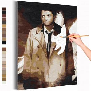 Кастиэль Сверхъестественное Раскраска картина по номерам на холсте AAAA-RS392