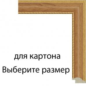 Светлый дуб с декоративной полоской Рамка для картины на картоне N175