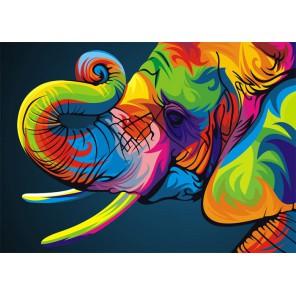 Радужный слон Алмазная вышивка (мозаика) Гранни