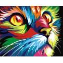 Радужный кот Алмазная вышивка (мозаика) Гранни