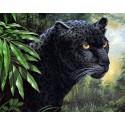 Пантера в джунглях Алмазная вышивка (мозаика) Гранни