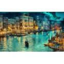 Ночная Венеция Алмазная вышивка (мозаика) Diy
