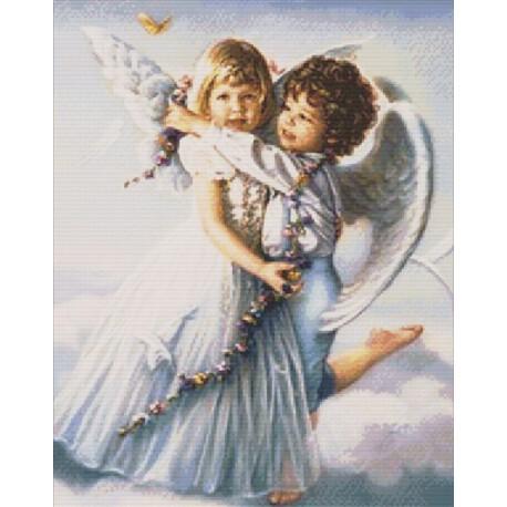 Ангелочки Алмазная вышивка (мозаика) Гранни