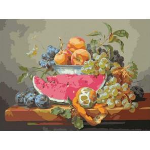 Аромат арбуза Раскраска (картина) по номерам на холсте Molly