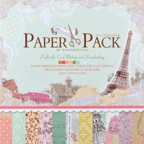 Радужные краски Набор бумаги 30,5х30,5 см для скрапбукинга, кардмейкинга Белоснежка