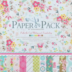 Цветущее лето Набор бумаги 30,5х30,5 см для скрапбукинга, кардмейкинга Белоснежка