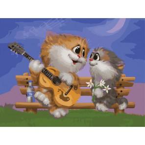 Песни под гитару Раскраска ( картина ) по номерам акриловыми красками на холсте Белоснежка