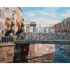 Грифоны Банковского моста Раскраска ( картина ) по номерам акриловыми красками на холсте Белоснежка