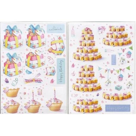 День рождение Lucy Cromwell Набор бумаги с высеченными элементами для скрапбукинга, кардмейкинга Docrafts