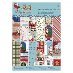 Jolly Santa Набор бумаги A4 с высечкой для скрапбукинга, кардмейкинга Docrafts