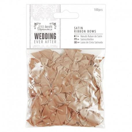 Wedding Набор сатиновых золотых бантов Docrafts