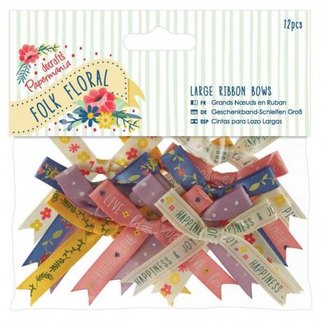 Folk Floral Банты для скрапбукинга, кардмейкинга Docrafts