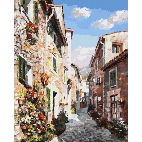 Майорка Раскраска ( картина ) по номерам акриловыми красками на холсте Белоснежка