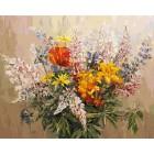 Букет с желтыми лилиями Раскраска ( картина ) по номерам акриловыми красками на холсте Белоснежка