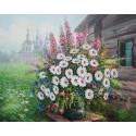 Букет полевых цветов Алмазная вышивка (мозаика) Гранни